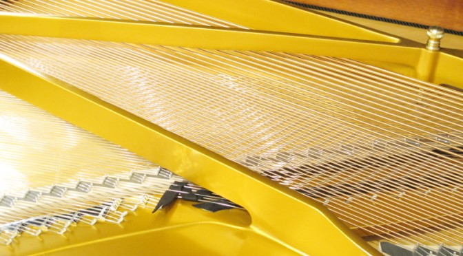 ピアノサロンTeamoのグランドピアノのピアノ線